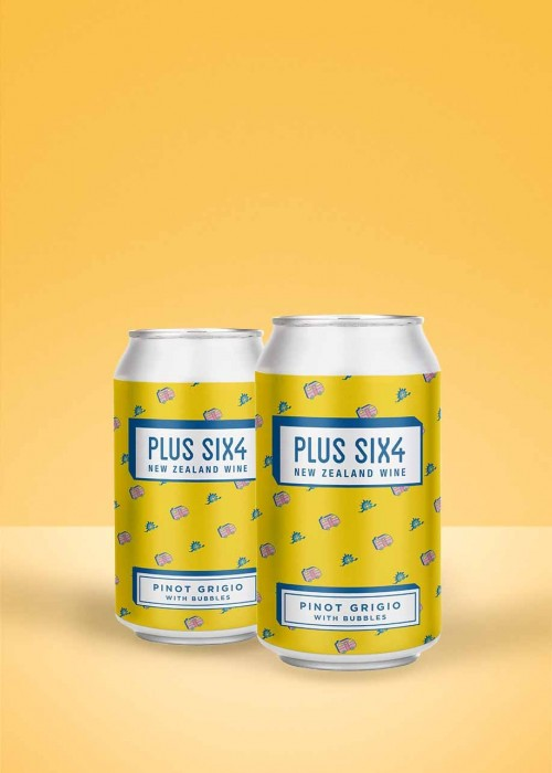Plus Six4 Pinot Grigio with Bubbles (2-pack)